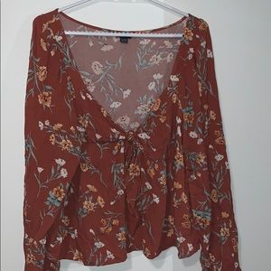 American Eagle Floral Blouse